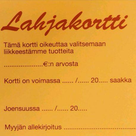 Mokkamaa Lahjakortti