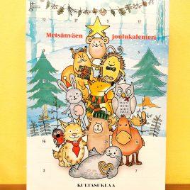 Metsänväen joulukalenteri Kultasuklaa 198g TARJOUS!