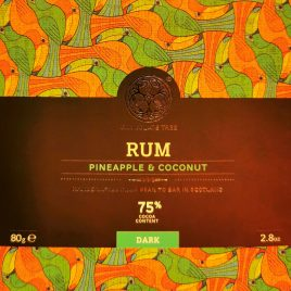 Rum, pineapple & coconut 75% Chocolate Tree 80g