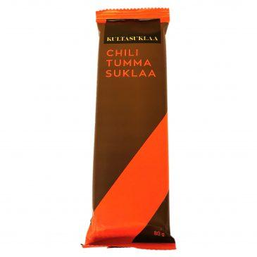 Chili tummasuklaa 80g