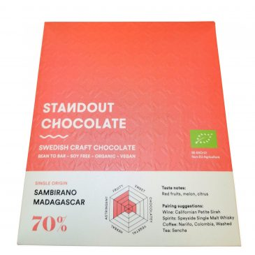 Madagascar single origin tummasuklaa 70% 50g